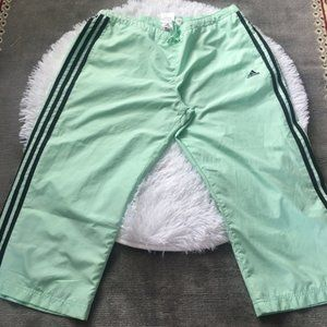 Adidas Mint Green Capri Track Pants Size XL